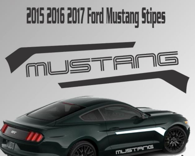 2015 2016 2017 ford mustang stripe vinyl decal sticker gt 5 0 coyote racing kit