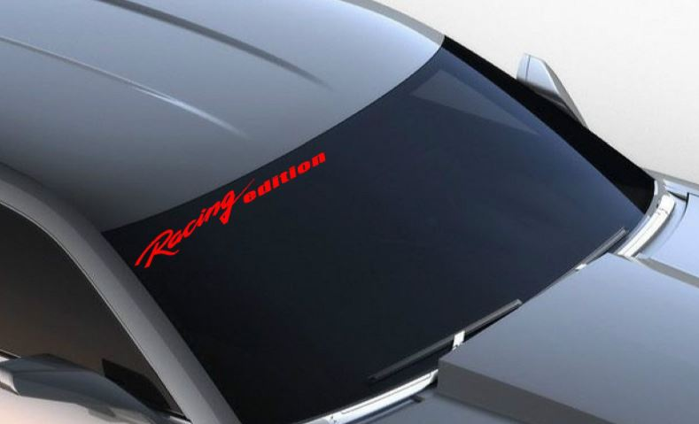 Windshield Racing edition Vinyl Decal sport car sticker logo fits CAMARO RED