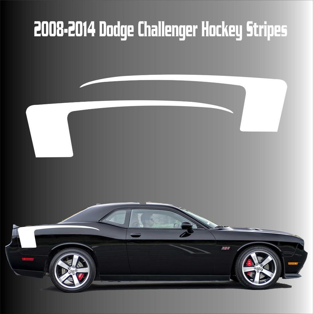 2008-2014 Dodge Challenger Hockey Racing Streifen Vinyl Aufkleber Aufkleber SRT Scat