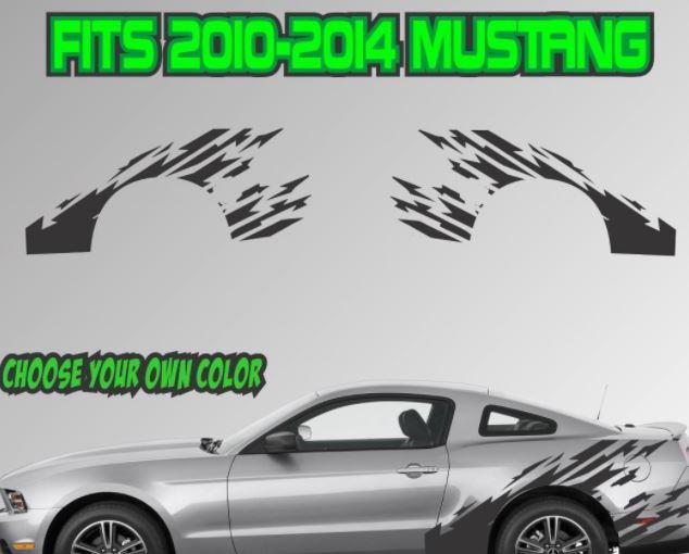 2010-2014 Ford Mustang gerippte Streifen Vinyl Aufkleber Aufkleber GT 5.0 Grafik Cobra