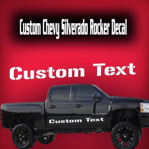 Chevy Silverado Rocker Streifen Vinyl Aufkleber Aufkleber 1500 2500 3500 HD Für 4 Türen