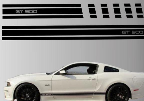 2010-2014 Ford Mustang Rocker Streifen Vinyl Aufkleber Aufkleber GT 5.0 Grafik Gt 500