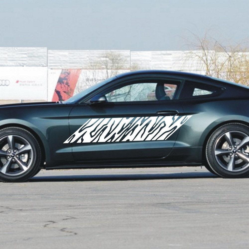 Car Tree Textur Dekor Tür Aufkleber für Mustang Vinyl Aufkleber Seitenaufkleber 1300