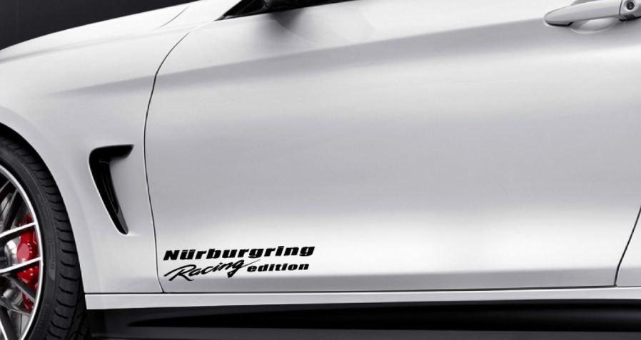 Nurburgring racing edition vinyl decal sport door sticker fits bmw decal black