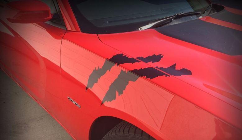 Dodge Charger Hash Streifen Narbenkratzer SRT SCAT PACK 392 Hellcat RT SXT DECAL Scatpack