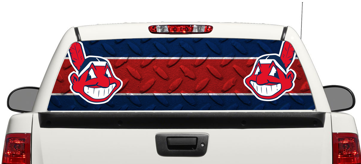 Cleveland Indians Baseball Rear Window Decal Sticker Pick-up Truck SUV Car 3