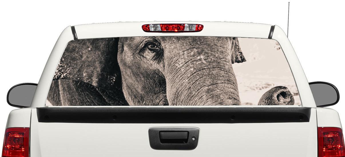 Elephant Wild animal Africa Rear Window Decal Sticker Pick-up Truck SUV Car 3