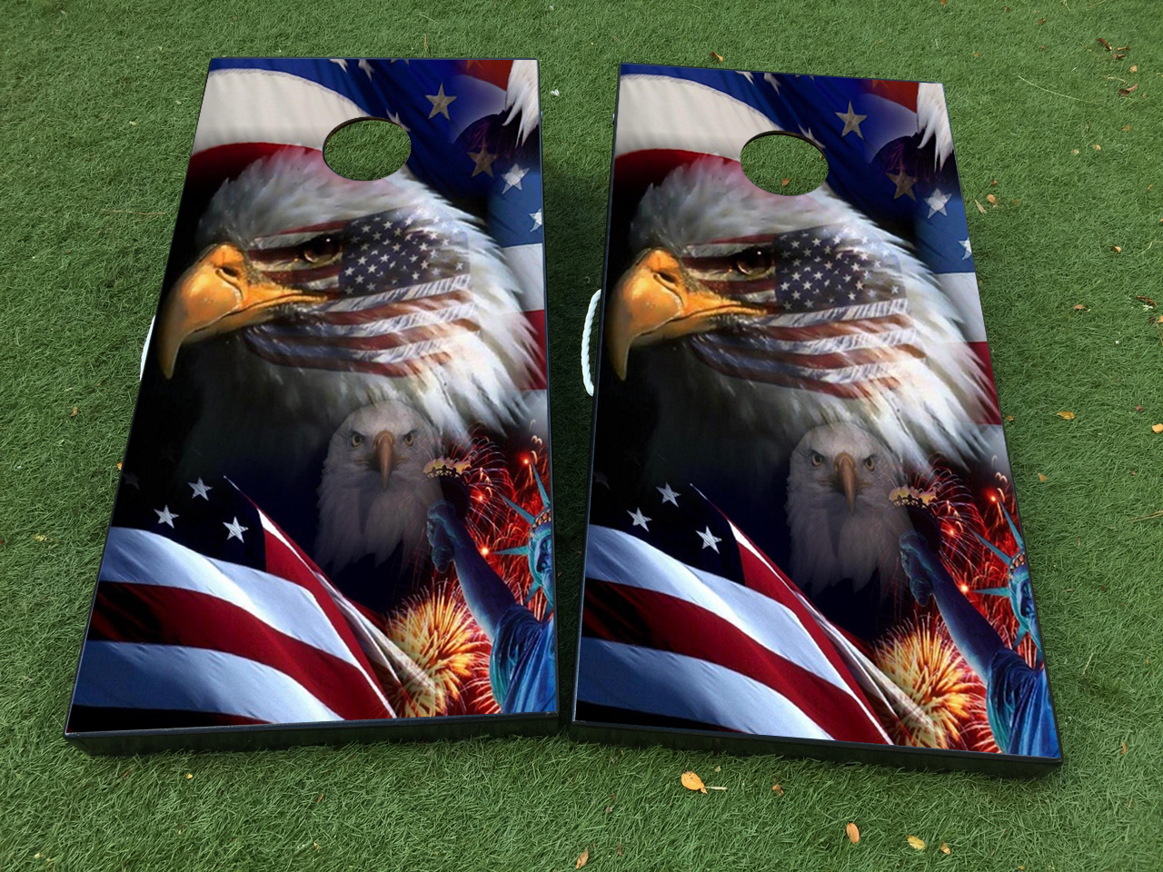 Product American Flag Eagle Cornhole Board Game Decal Vinyl Wraps