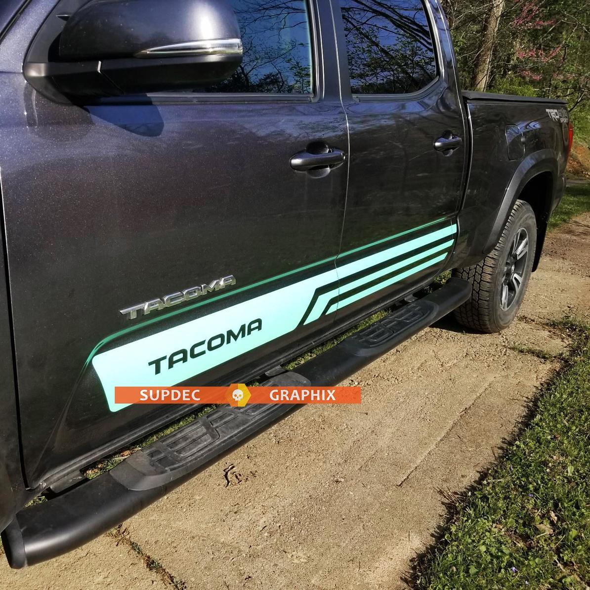 2x TRD Angel Aufkleber Aufkleber Grafik Seitenbett Streifen Body Kit Für Toyota Tacoma Racing