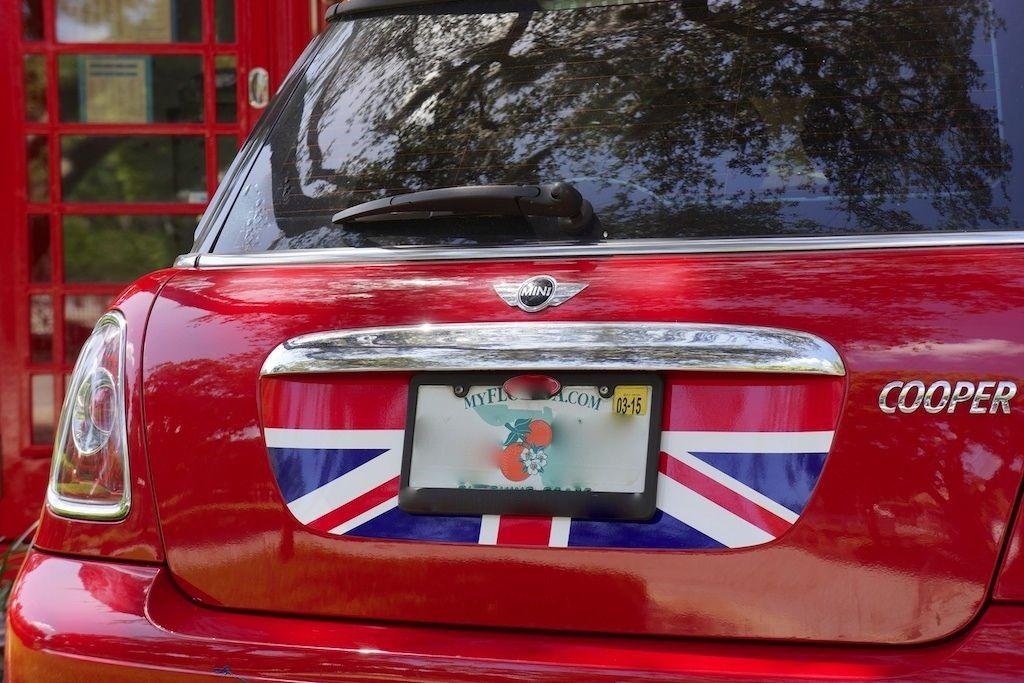 Mini Cooper S R56 Kofferraumgrafik - Rot Weiß Blau Englische Flagge Aufkleber