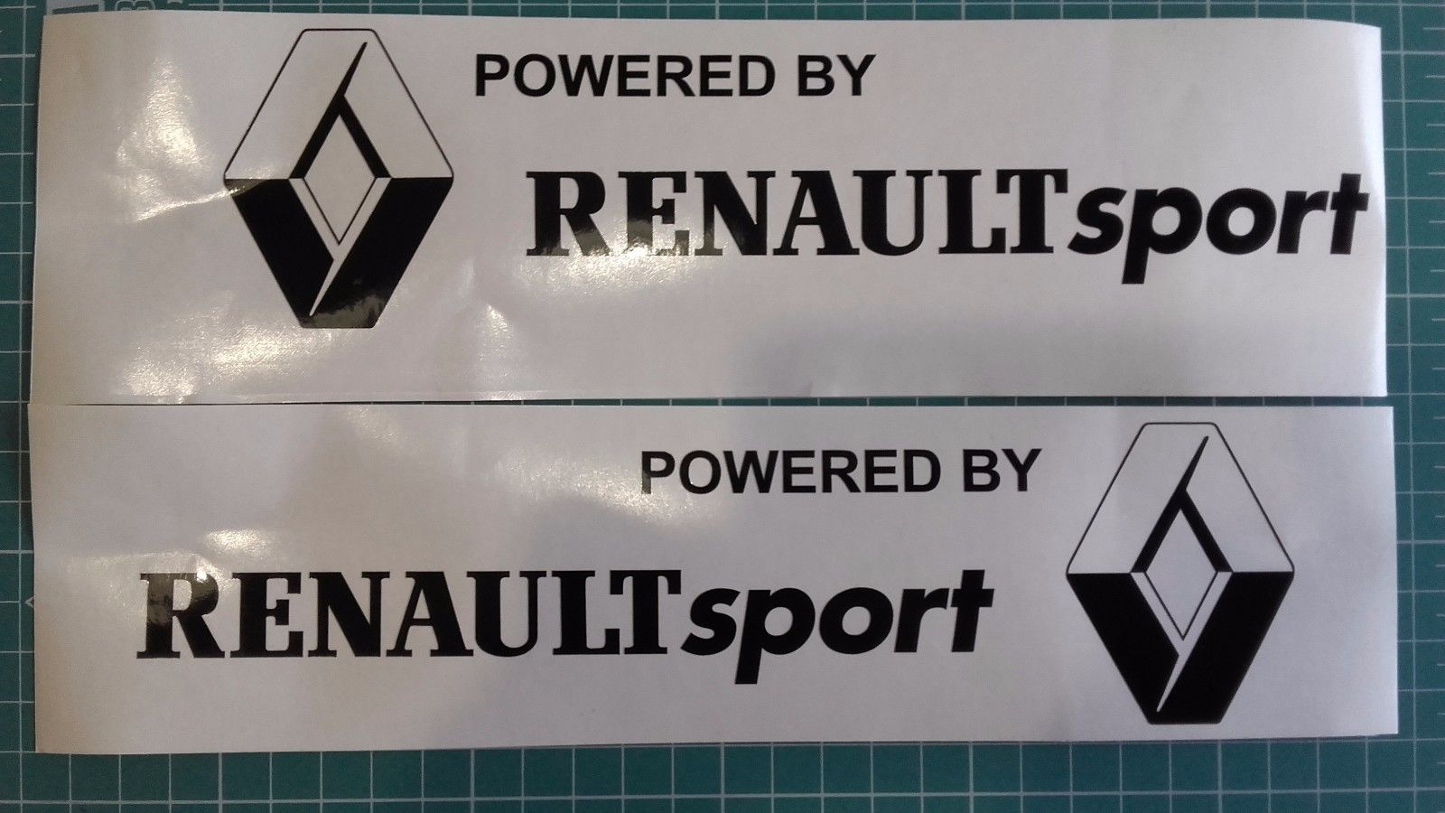 Set of 2x Powered by Renault Sport side decal sticker fits Megane RS Clio RS 220