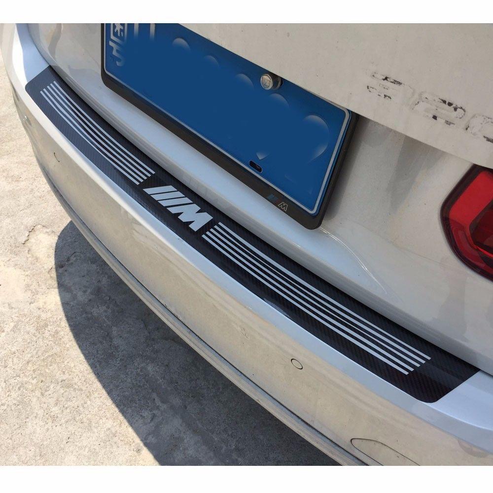 Black Carbon Fiber M Performance Vinyl Auto Heckstoßstange Aufkleber Aufkleber für BMW