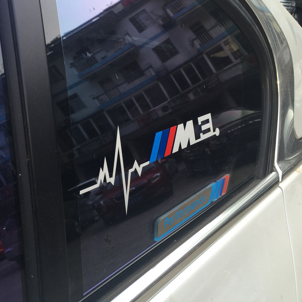 2pcs for BMW M3 is in my Blood Hearbeat Window Sticker Decals Graphic