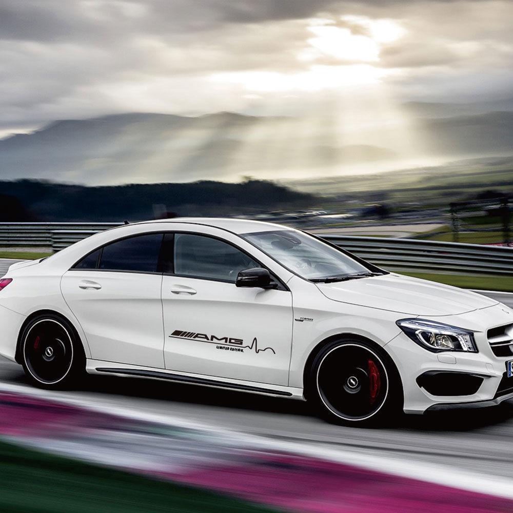 2 Stück 31 Zoll für Mercedes Benz AMG Logo Seitentür Aufkleber -3 Farben