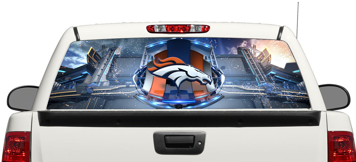Product Denver Broncos Football Rear Window Decal Sticker Pickup - Back window decals for trucks