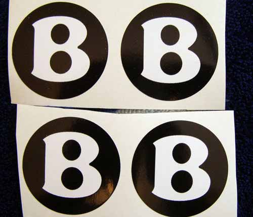 bentley black white center cup wheel decals stickers