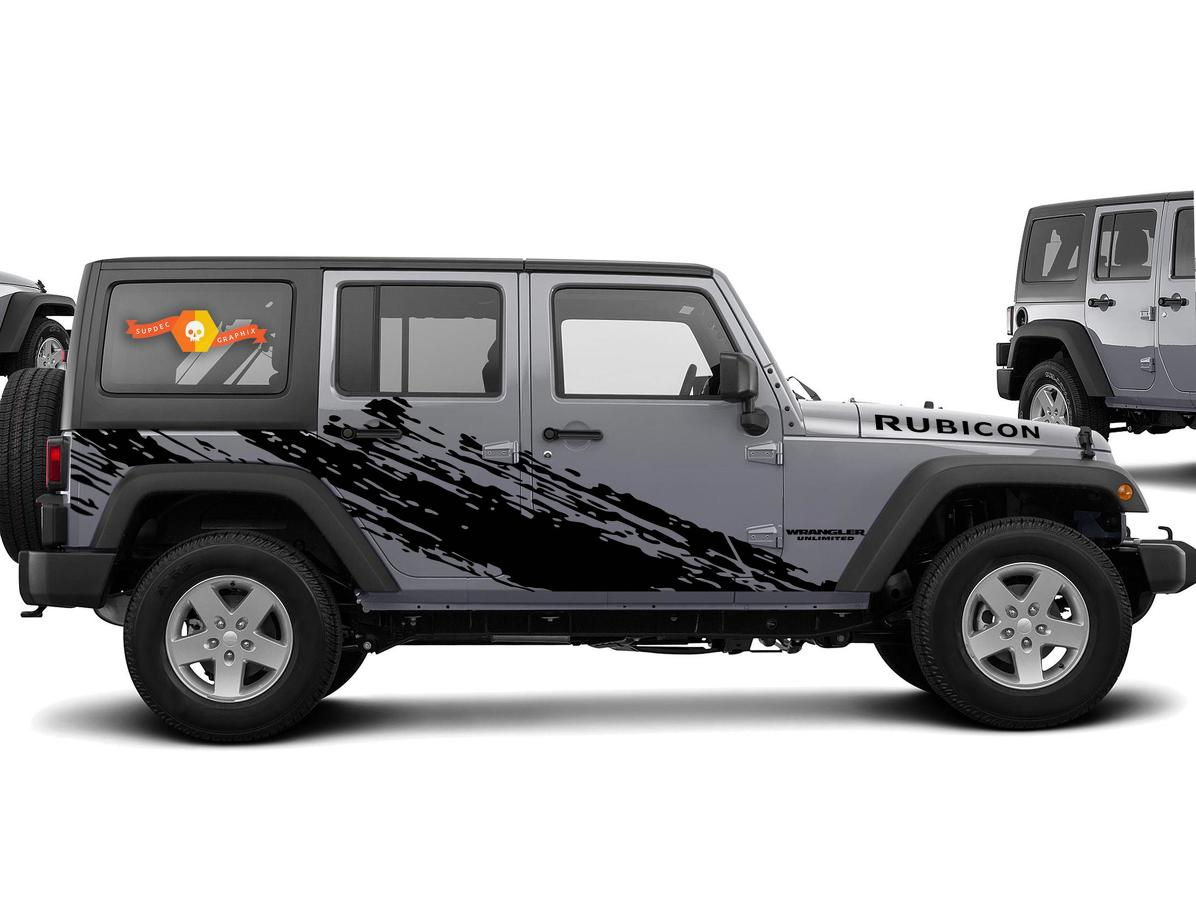 Product super splash graphic decal for 07 17 jeep wrangler unlimited jk 4 door