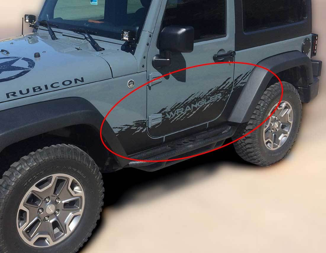 Product Jeep Decal Sticker Splash Side Rocker Door