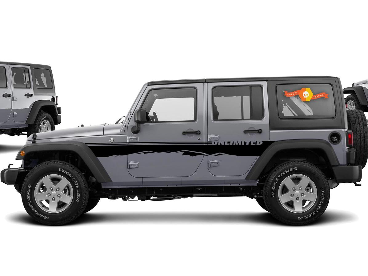Product Side Dune Sahara Stripes Decal Sticker For Jeep Wrangler