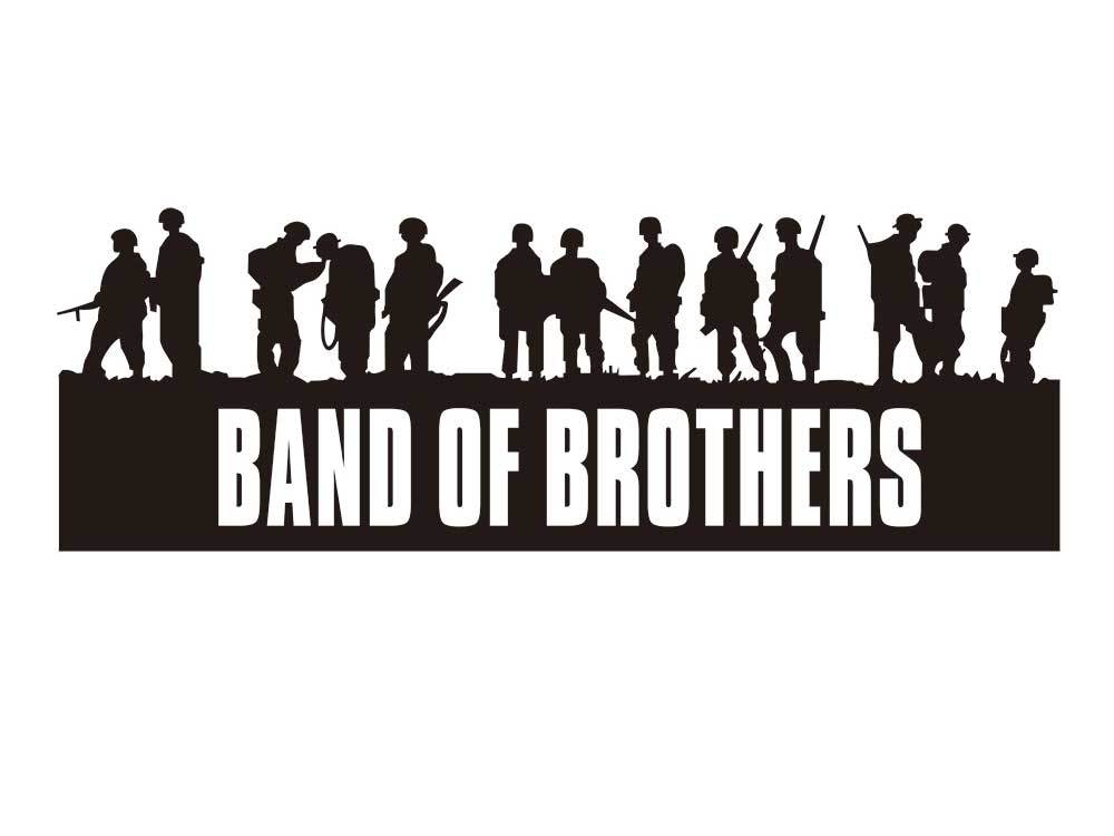 Band of Brothers U.S. Army 101st Airborne Division Decal Stickers all colors 7inch wide