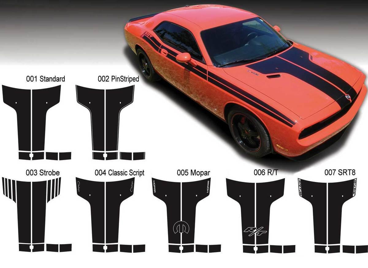 Die Grafiken der Dodge Challenger Hood T-Aufkleberaufkleber passen zu den Modellen 09-14