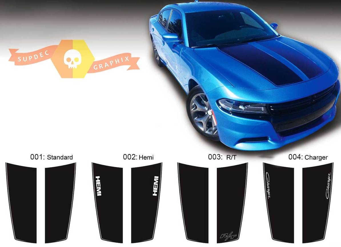 Product Dodge Charger Hood Accent Decal Sticker Hood Graphics Fits
