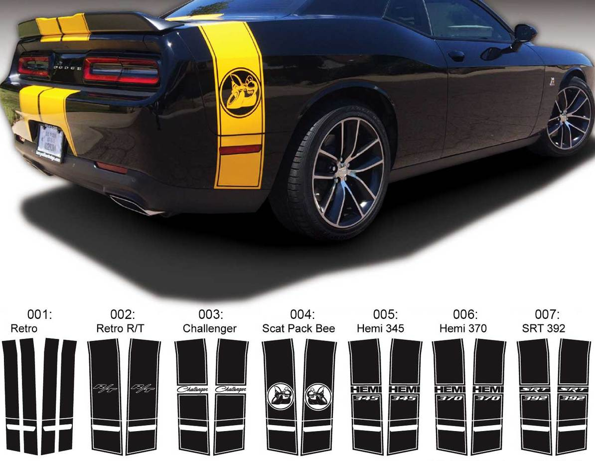 Yellow Super Bee Dodge Challenger Charger Racing Bumper Sticker Vinyl Decal