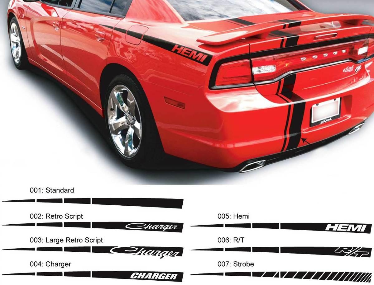 Dodge Charger Quarter Spear Hemi RT Aufkleber Seitengrafiken passen zu den Modellen 2011-2014
