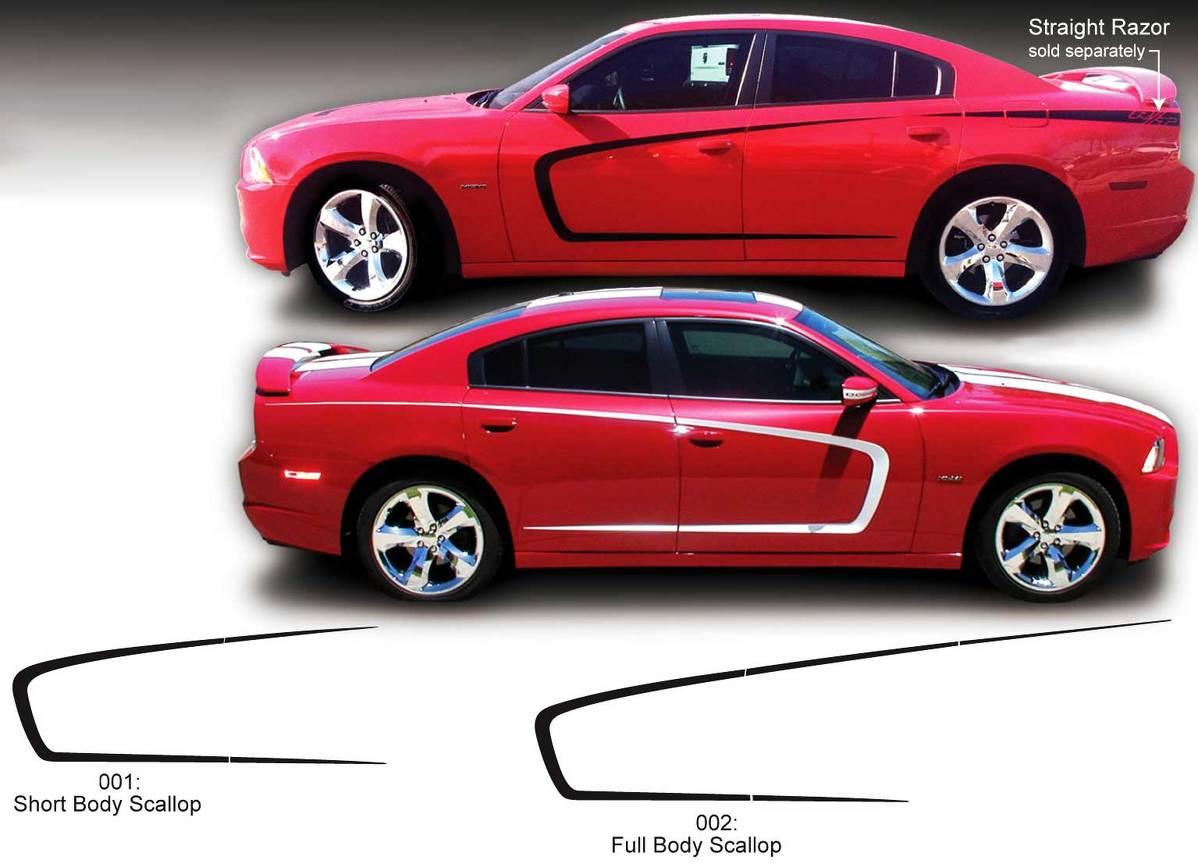 Dodge Charger Body Scallop Seite Decal Sticker Grafiken passt zu den Modellen 2011-2020