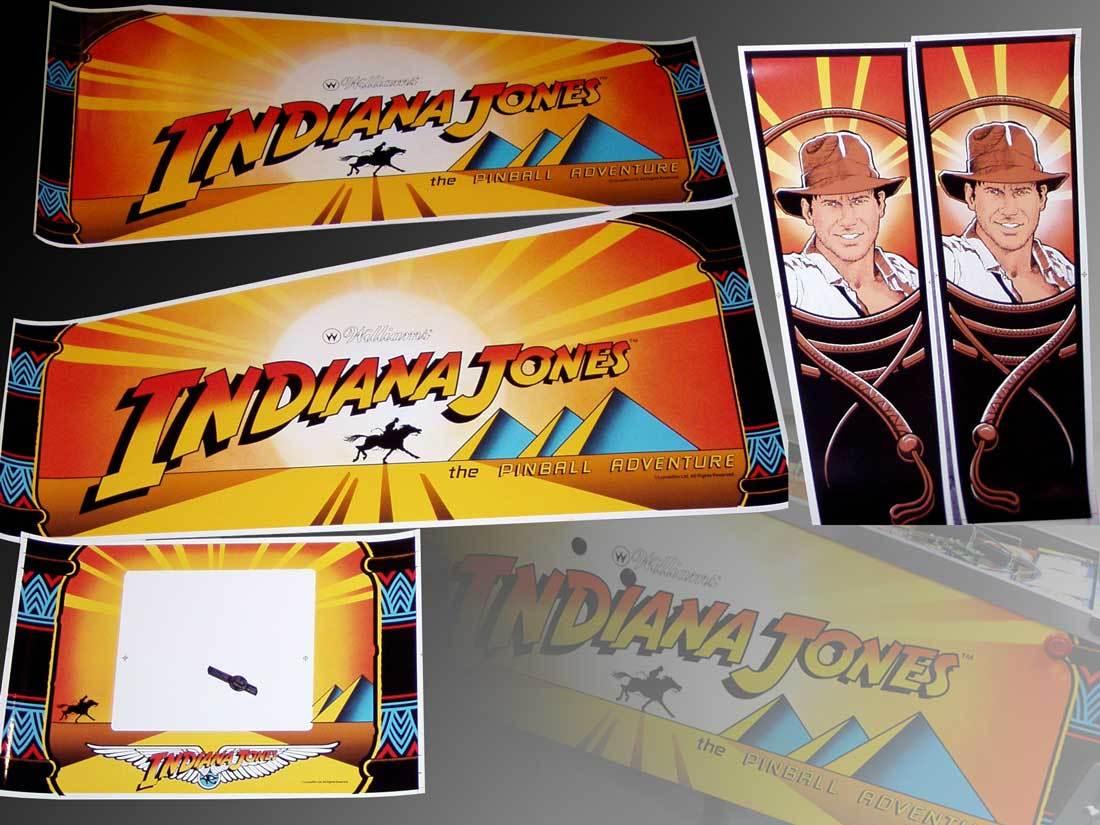 Indiana Jones Flipper Cabinet Decal Set nicht OEM