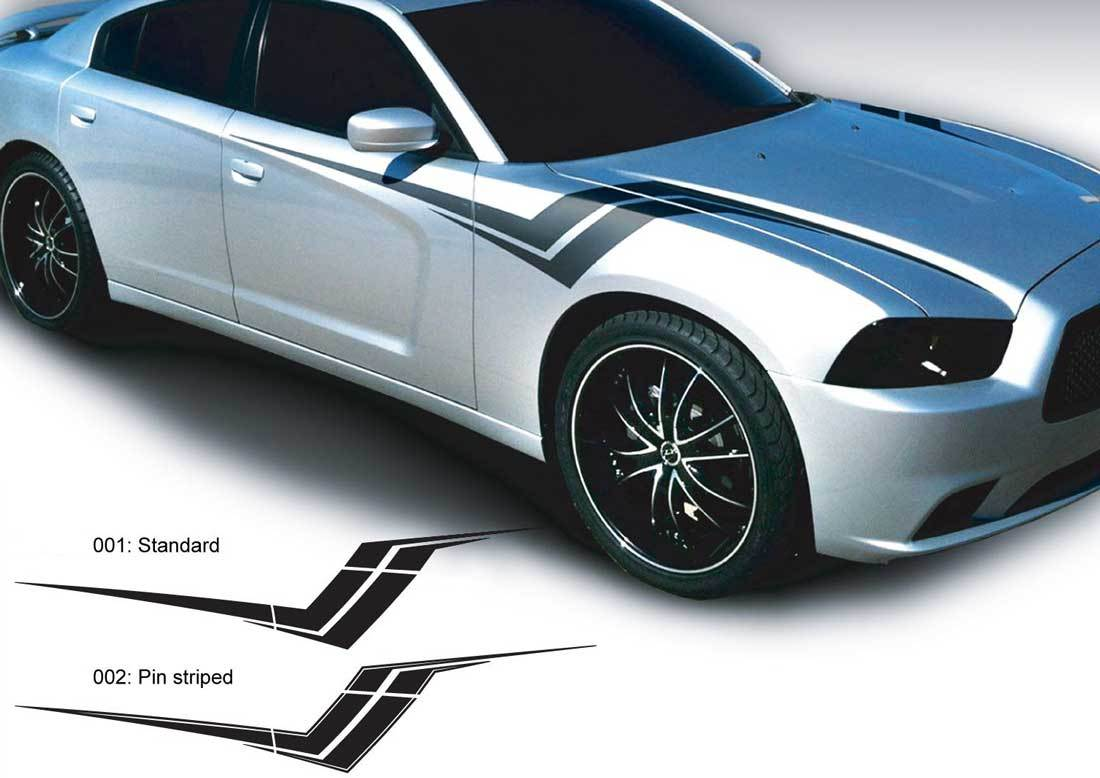 Dodge Charger Z Hash Aufkleber Aufkleber Komplettes Grafik-Kit passt zu Modellen 2011-2014