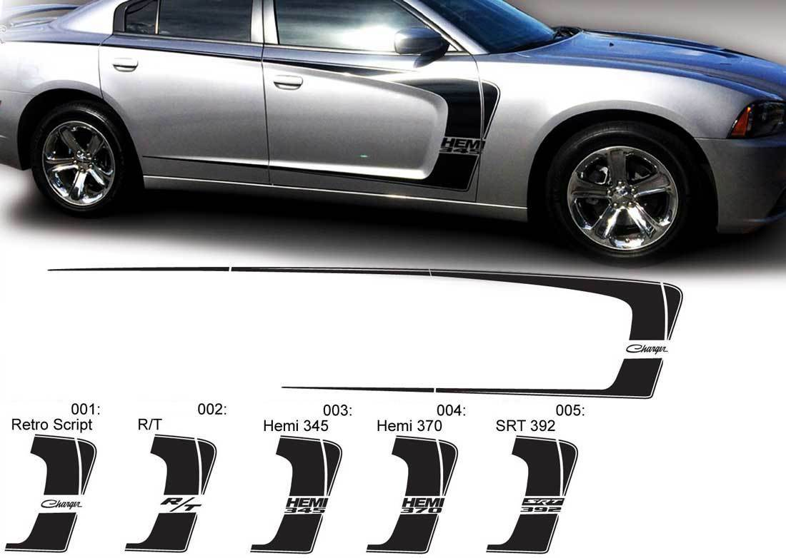 Product Dodge Charger C Stripe Hemi Rt 345 370 392 Decal