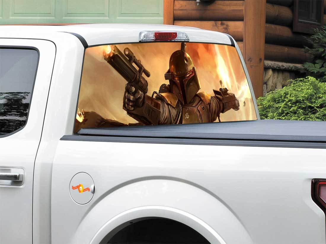 Boba Fett Bounty Hunter Star Wars Rear Window Decal Sticker Pick-up Truck SUV Car any size
