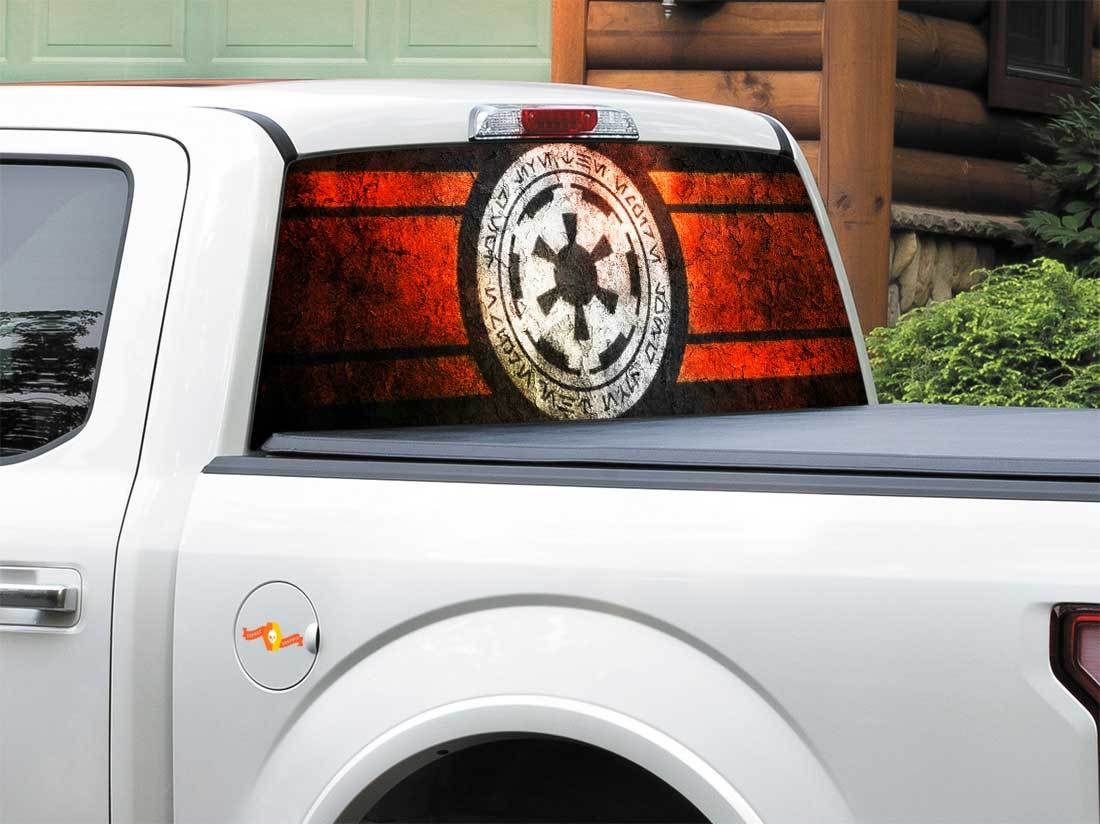 Galactic Empire Star Wars Rear Window Decal Sticker Pick-up Truck SUV Car any size