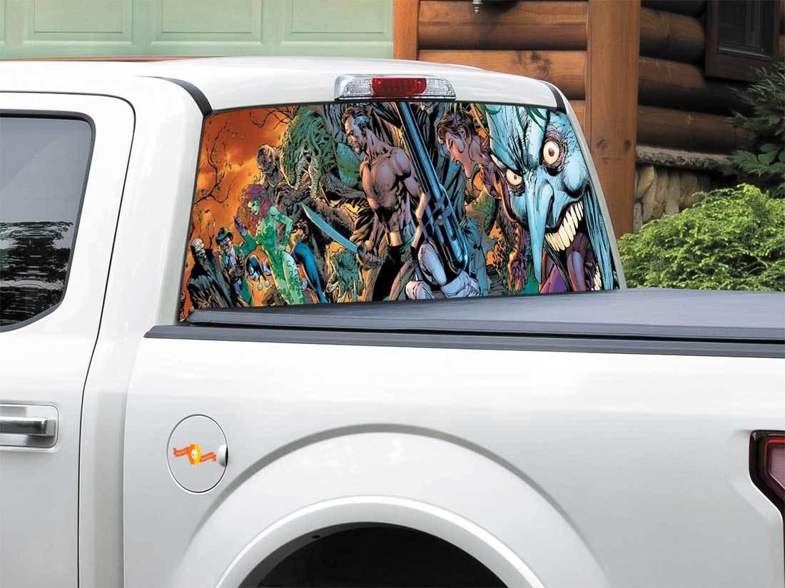 Joker hero DC comics Rear Window Decal Sticker Pick-up Truck SUV Car any size
