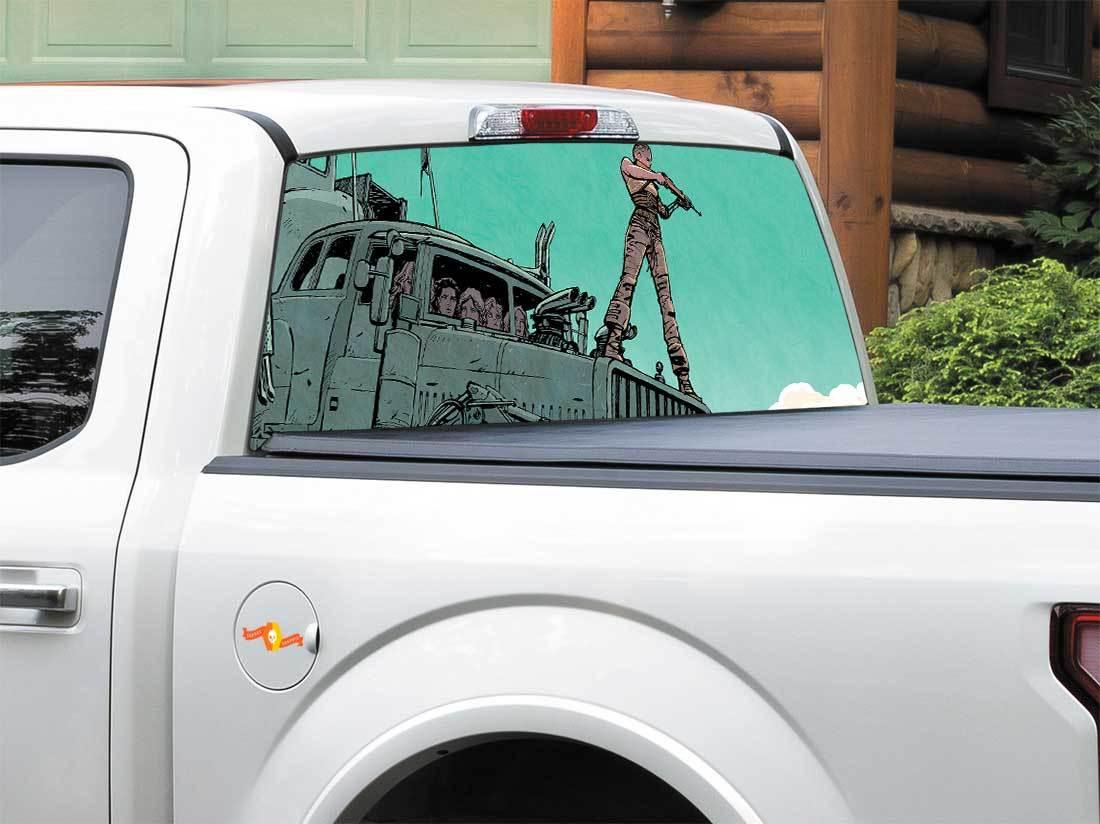 Pick-Up Truck Perforated Rear Window Wrap Minnesota