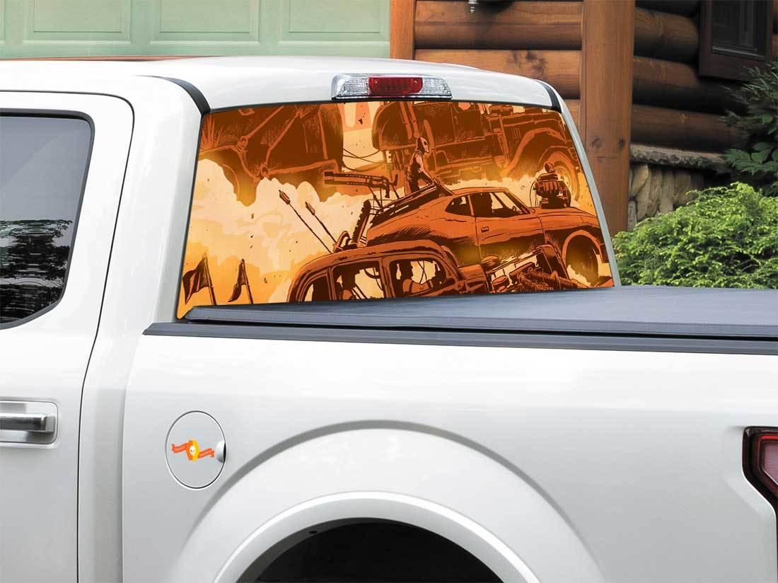 Mad Max Fury Road Art Comics Rear Window Decal Sticker Pick-up Truck SUV Car any size