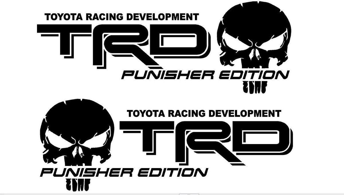 Truck Car Decal - Vinyl decal Outdoor vinyl 2 TRD USA EDITION Alternate