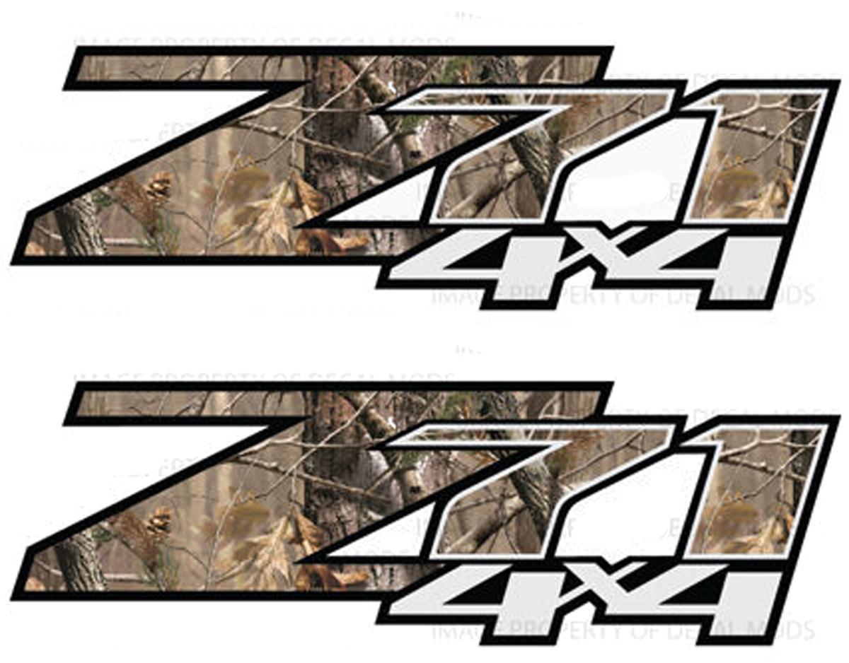 Product 2 Chevy Silverado Z71 4x4 Decals Realtree Ap
