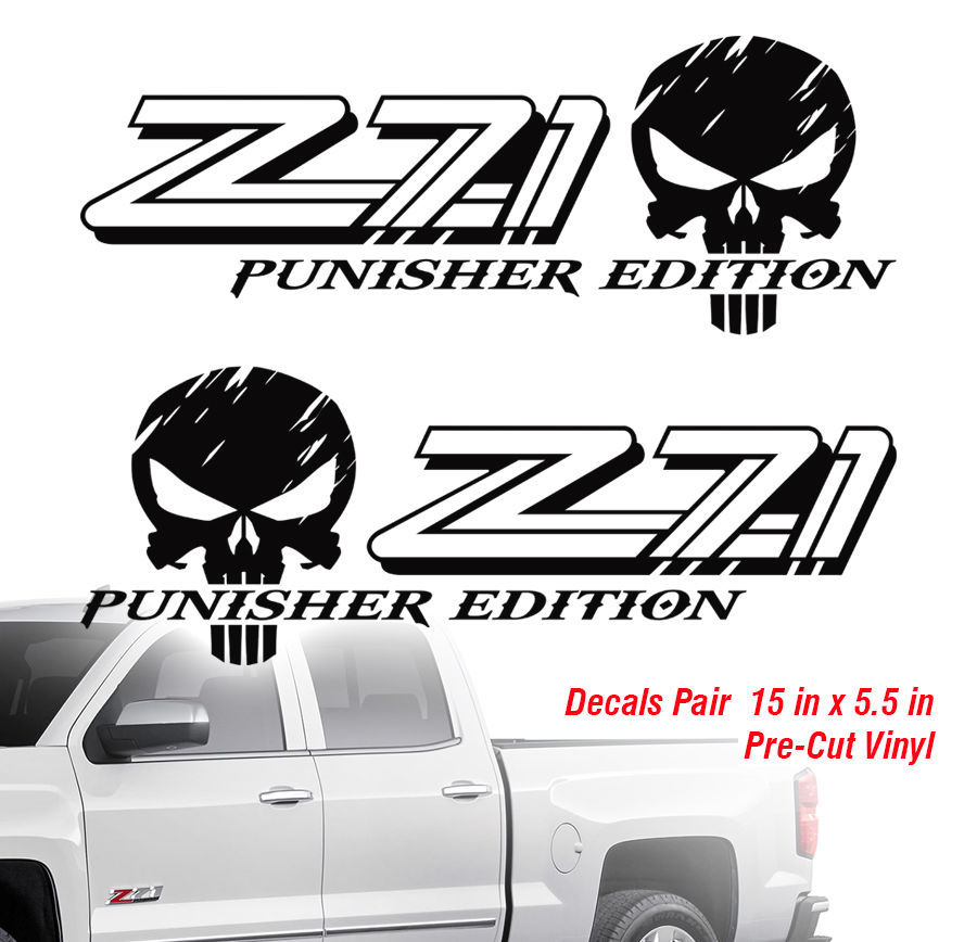 Product Chevy Z Punisher X Off Road Truck Silverado - Chevy decals for trucks