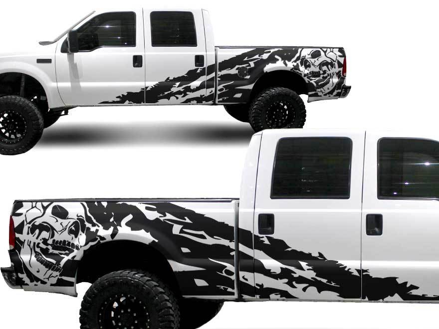 Product Ford Truck F 250 Side Skull Splash Graphic Decals