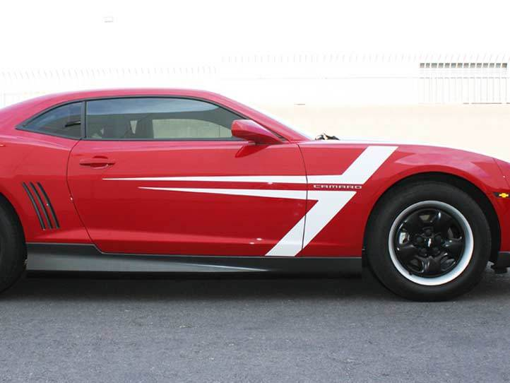 Chevrolet Camaro T-Stripes Graphic decals stickers fits models 2010-2015