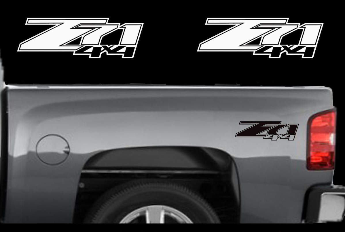 2 chevy z71 4x4 2007 2013 decals silverado gmc sierra truck vinyl sticker set