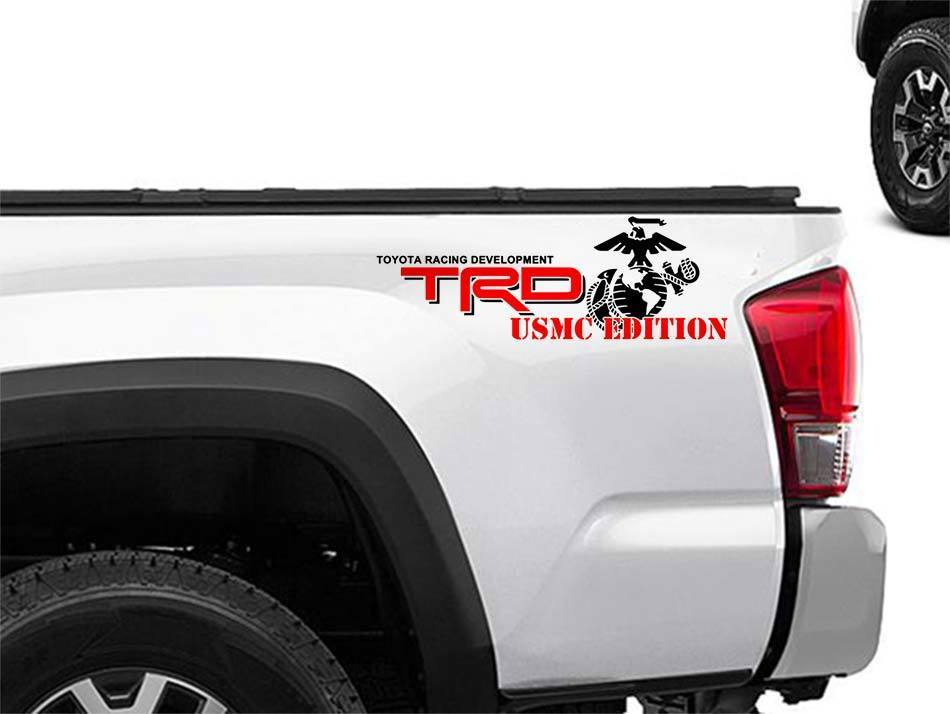 Toyota Racing Development TRD USMC edition 4X4 bed side Marines Graphic decals stickers 2