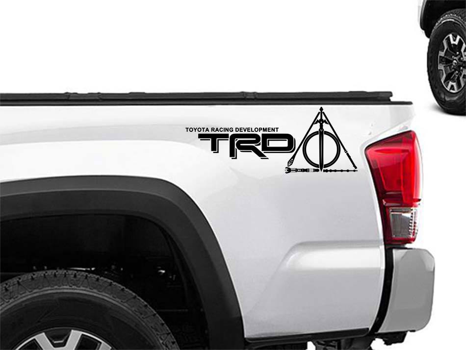Product toyota racing development trd nerdy geeky tattooed edition 4x4 bed side graphic decals stickers 2