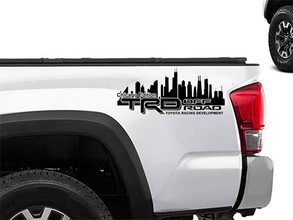 Product toyota racing development trd chicago edition 4x4 bed side graphic decals stickers 2