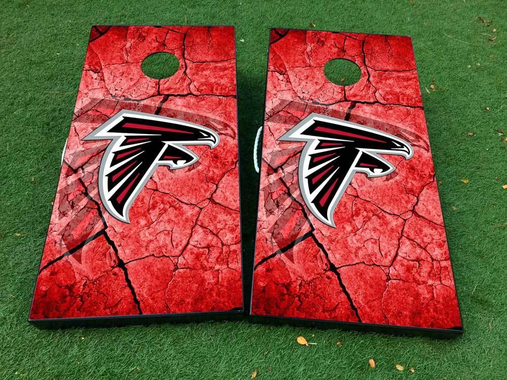 Atlanta Falcons Cornhole Wrap Decal Stickers Vinyl Gameboard Skin Set JC075