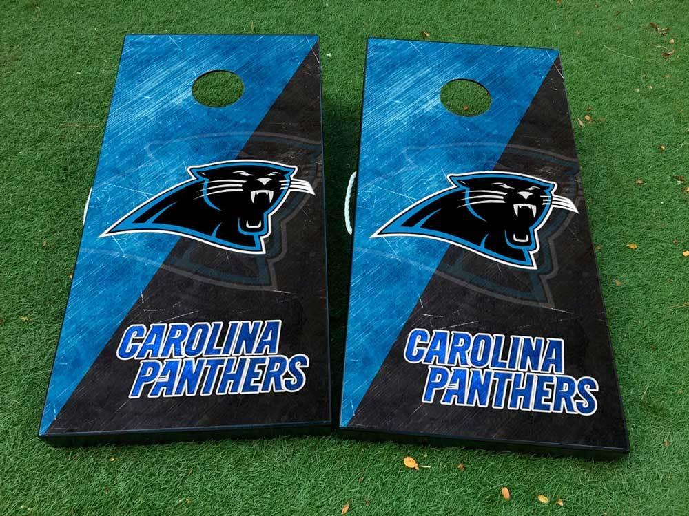 Product Carolina Panthers Football Cornhole Board Game Decal Vinyl