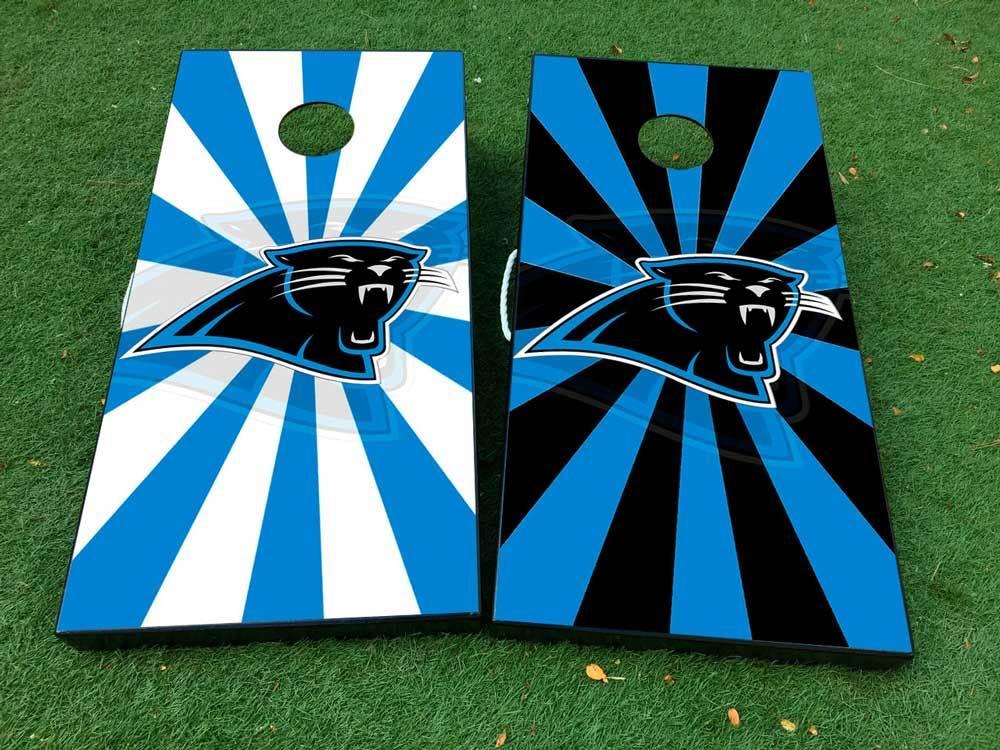 Product Carolina Panthers Football 2 Cornhole Board Game Decal