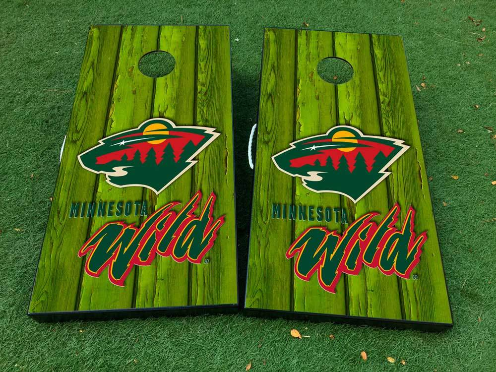 Product Minnesota Wild Hockey 1 Cornhole Board Game Decal